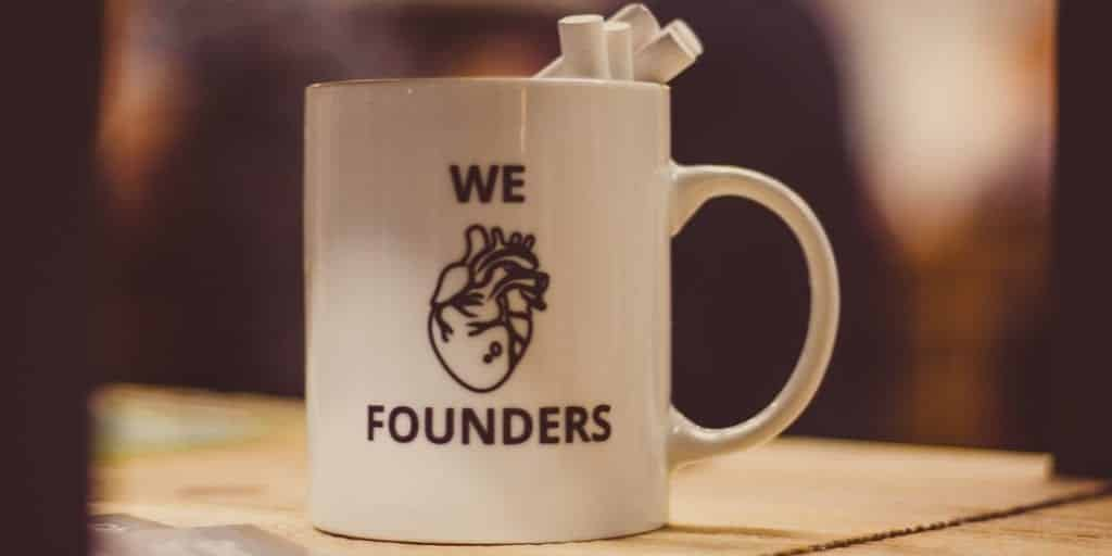 We Heart Founders Coffee Cup
